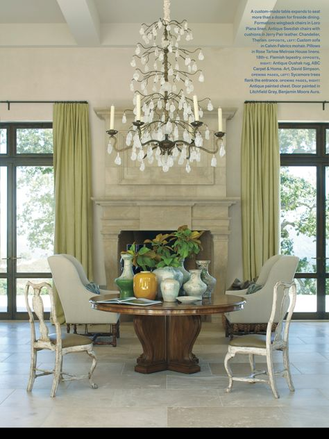 That chandelier! Amazing dining room in the March April 2014 issue of Veranda
