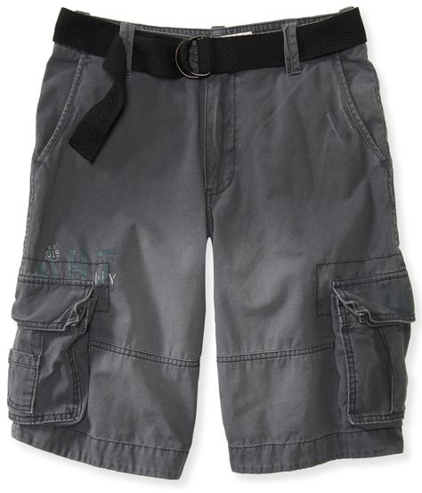 81e84b8772f Aeropostale Belted Solid Cargo Shorts on shopstyle.com | Mens ...