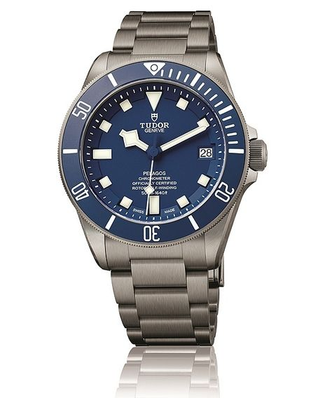Tudor took the Sports Watch Prize, at the 15th Grand Prix d'Horlogerie de Genève (GPHG), for its Tudor Pelagos (shown with blue dial), a 500-meter water-resistant dive watch featuring a light-weight, brushed titanium case and bracelet. Read more at: http://www.watchtime.com/wristwatch-industry-news/industry/greubel-forsey-takes-top-prize-at-gphg-2015-full-list-of-prize-winning-watches/ #tudorwatches #watchtime #divewatch #watchnerd