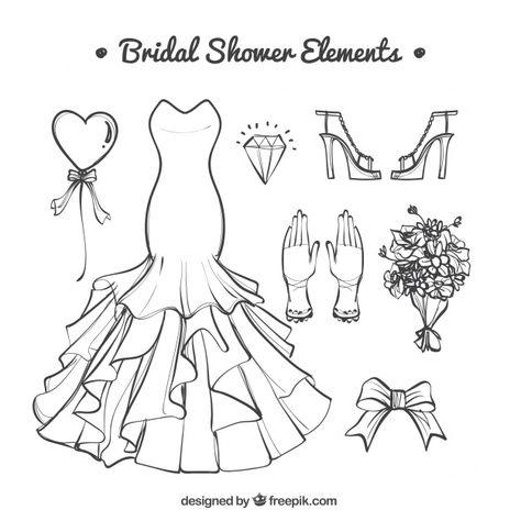 Download Fantastic Hand Drawn Wedding Accessories For Free 手のスケッチ 結婚 式 の アクセサリー