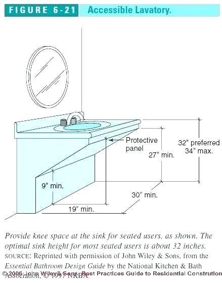Sublime Ada Bathroom Vanity Requirements Bathroom Counter Height