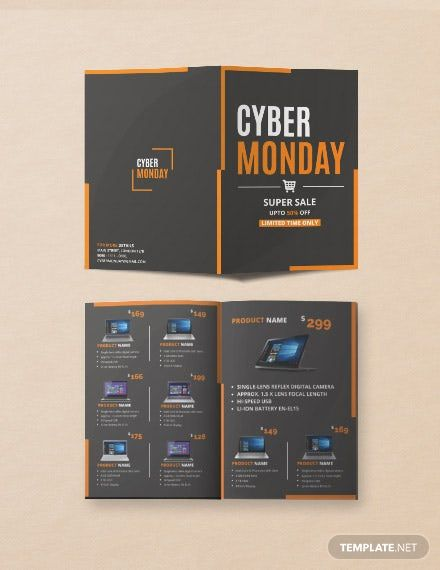 Free Cyber Monday Brochure Template In 2020 Brochure Template Brochure Design Template Brochure
