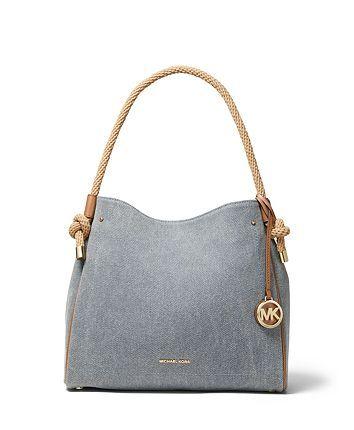 Italian Womens Pebble Leather Tote Grab Handbag Crossbody Convertible Bag Grey
