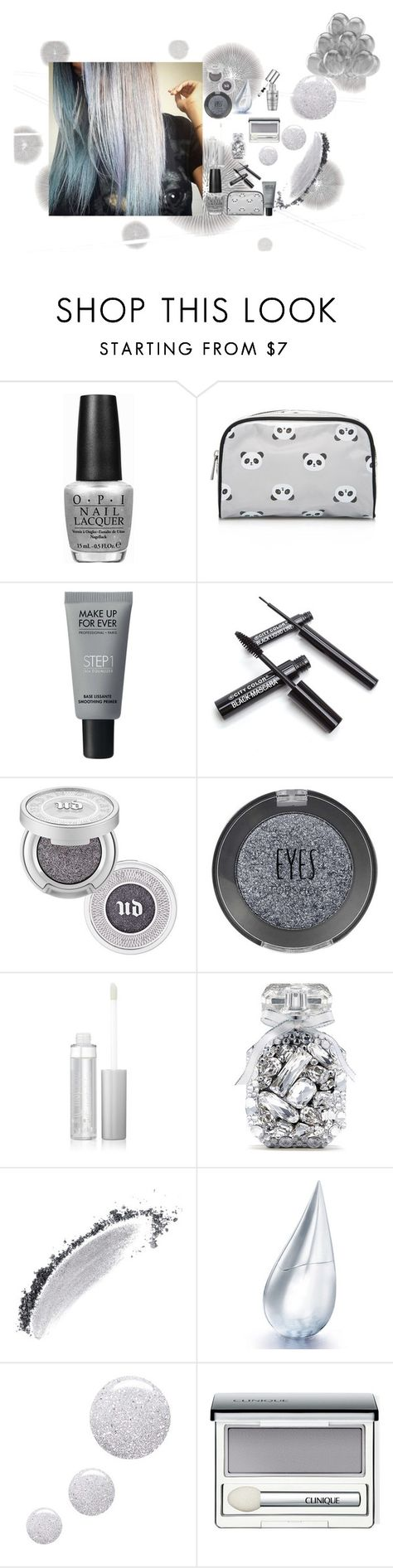 """""""Silver"""" by katiecutie31 on Polyvore featuring beauty, Komar, OPI, Forever 21, MAKE UP FOR EVER, Urban Decay, Topshop, Victoria's Secret, NARS Cosmetics and La Prairie"""