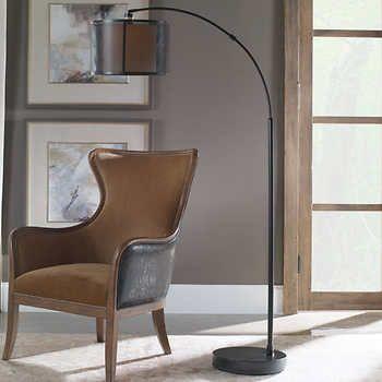 Stallings 3 Arm Metal Floor Lamp Metal Floor Lamps Pulley Floor Lamp Natural Table Lamps