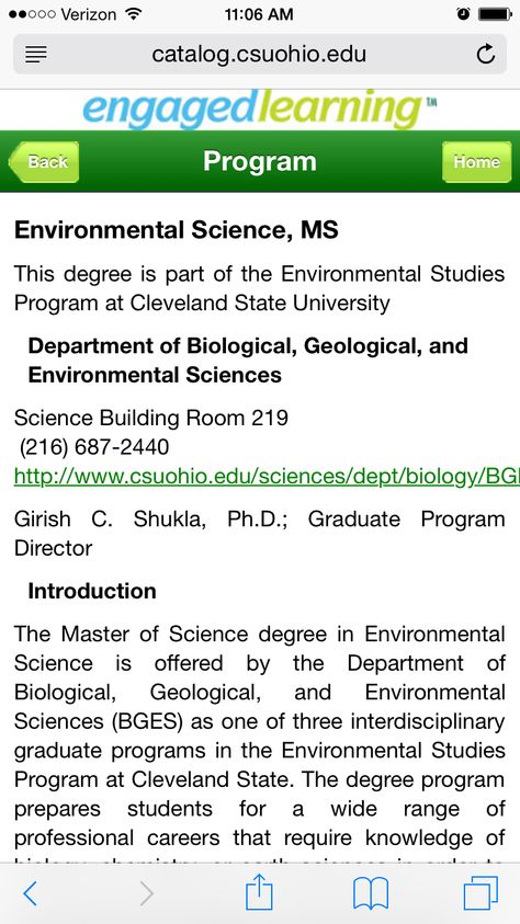 Master of Environmental Science | Escuela | Pinterest | Graduate courses,  State university and Environmental science