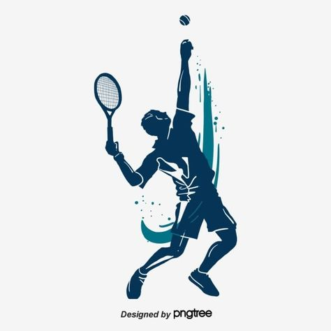 Silhouette Of Serving Characters In Tennis Png And Psd In 2020 Silhouette City Silhouette Font Illustration