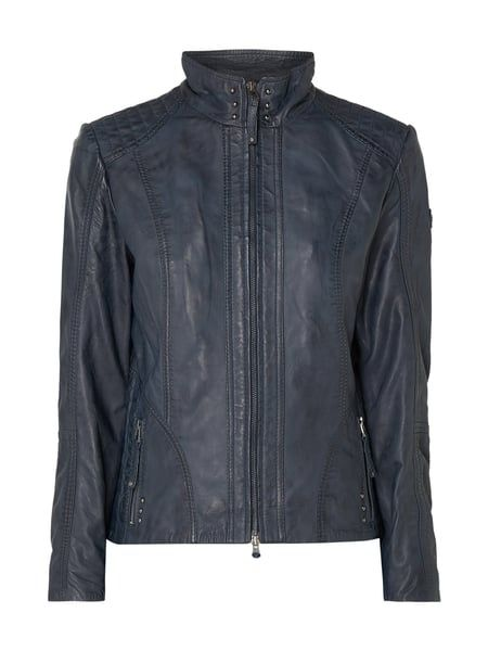 Mode | Cabrini Marineblau Lederjacke Damen | Online