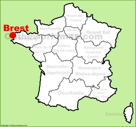 Brest location on the France map | Maps | Pinterest | France map ...