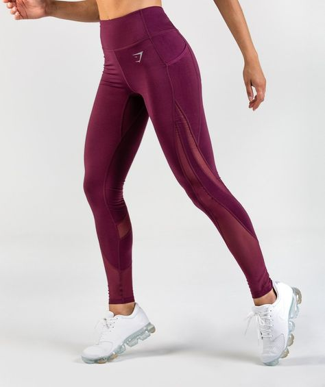 7824a798ec039 Gymshark Sleek Sculpture Leggings 2.0 - Dark Ruby | Gymshark ...