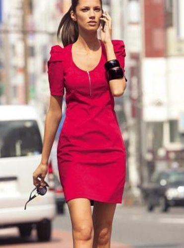 trends fur rotes kleid etui