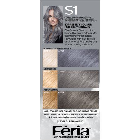 Beauty In 2020 Silver Hair Dye Permanent Hair Color Feria Hair