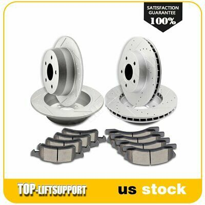 Ceramic Pads For Dodge Durango Jeep Grand Cherokee Front And Rear Brake Rotors
