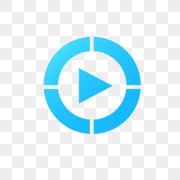 Blue Play Button Icon Blue Play Button Png Transparent Clipart Image And Psd File For Free Download Play Button Clip Art Email Icon