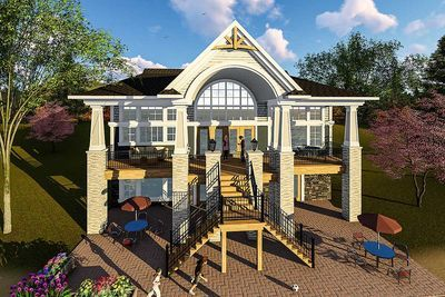 Plan 890067ah Craftsman House Plan For A View Lot Craftsman House Plan Craftsman House House Plans