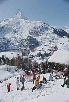Slim Aarons, Zermatt, High Society, Ski Season, Photo D Art, Thing 1, Vintage Ski, Snow Skiing, Color Photography