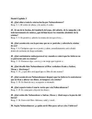 Mas De 90 Preguntas Y Respuestas Sobre El Libro De Daniel Diez Primer La Guardia