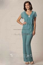 03ae192c37 Modern Cheap Chiffon Two Picec mother of the bride pants suits nmo-032