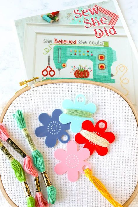 Sewing Craft A5 Creative Card PATTERN Matilda Flowers