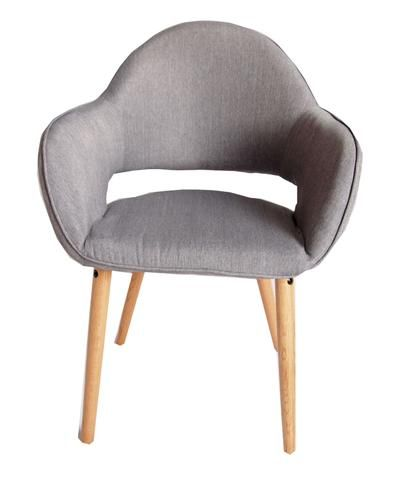 Atlas Grey Fabric Chair Set of 2 – Newstart Furniture
