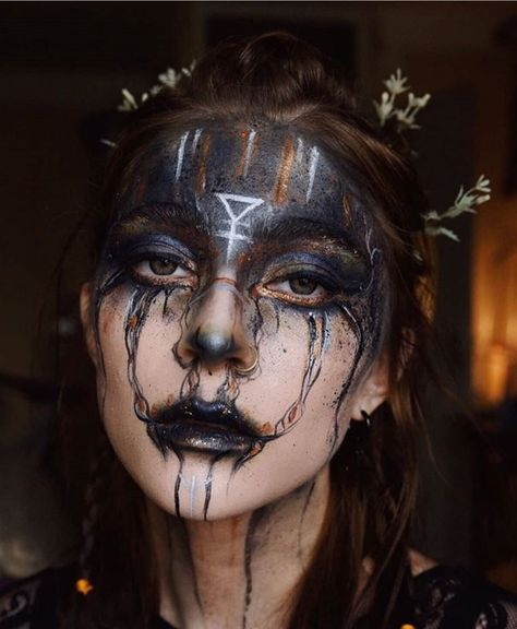 Halloween Makeup Witch, Witch Makeup, Creepy Makeup, Amazing Halloween Makeup, Elf Makeup, Costume Makeup, Makeup Art, Halloween Witches, Halloween Ideas