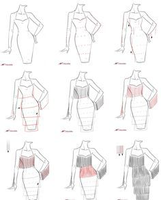 how to draw wedges in fashion design sketches tutorial
