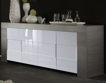 Urbino Collection Sideboard Two Doorsthree Drawers White High