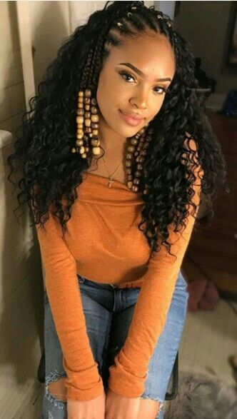 Cornrow With Curly Weave Curly Braids For Your Hair Braids Hairstyles Pictures Hair Styles African American Braided Hairstyles