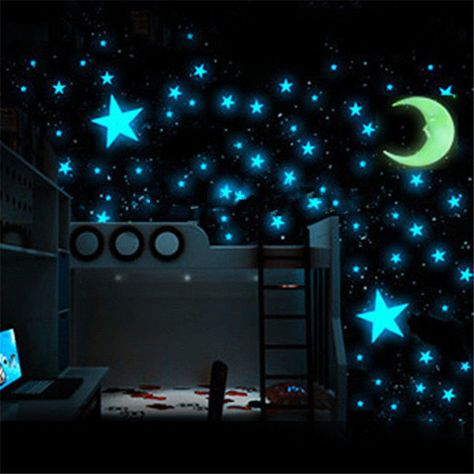 NEW GLOW IN THE DARK STARS KID CHILD BABY BEDROOM NURSERY WALL STICKERS