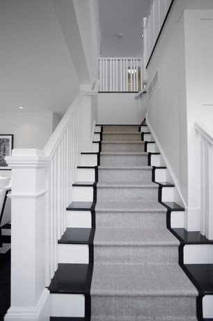 Basement Contemporary Stair Runners A Necessity For The Safety Of Your House Darbylanefurniture Com In 2020 Contemporary Stairs Condo Interior Hallway Designs