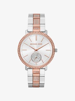 Michael Kors Jaryn Pave Two Tone Watch | Michael kors, Mens