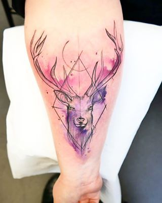This confident, colourful stag. | 22 Magical Scottish Animal And Nature Tattoos That You'll Love
