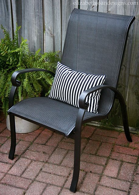 Patio Update On A Tiny Budget Painting Patio Furniture Metal