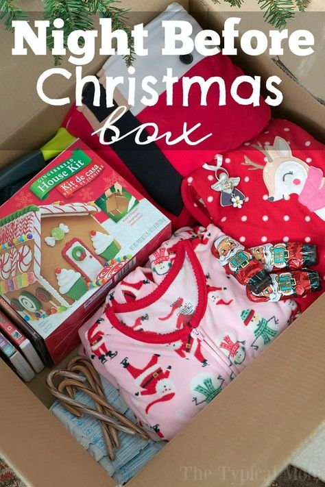Make a Night Before Christmas Box This Year! The night before Christmas box tradition is so much fun! Here's how you make one and why my kids look forward to it every year no matter how old they are. Christmas Eve Box For Kids, Christmas Traditions Kids, Night Before Christmas Box, Xmas Eve Boxes, Christmas Baskets, Old Christmas, Christmas Movies, Diy Christmas Gifts, Christmas Holidays