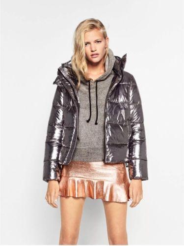Quilted Metallic Zara Jacketcoat About Dark Details Nwt KlcTF1J