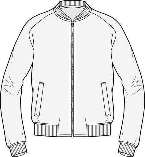 bomber #jacket #Mode #mode skizzen zeichnen #Plat #Skizzen