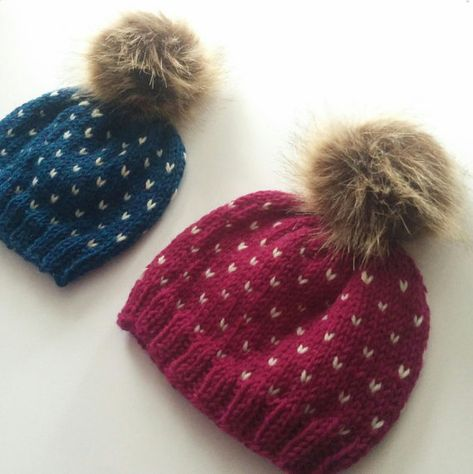 ada32622597 Hand Knit Peruvian Wool Fairisle Hats Baby 0-6 months with Faux Fur ...