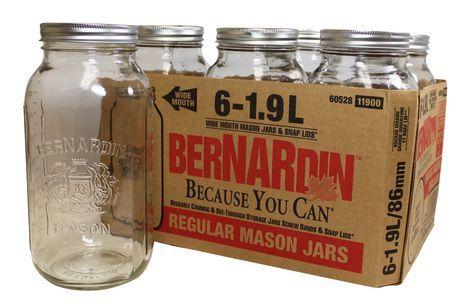 1.9 L Bernardin Mason Jars