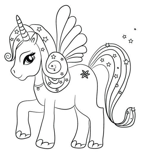 Dibujos De Unicornio Para Colorear Dibujos De Unicornios Tiernos