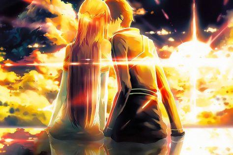 Sao Sword Art Online Kirito Asuna Anime Poster