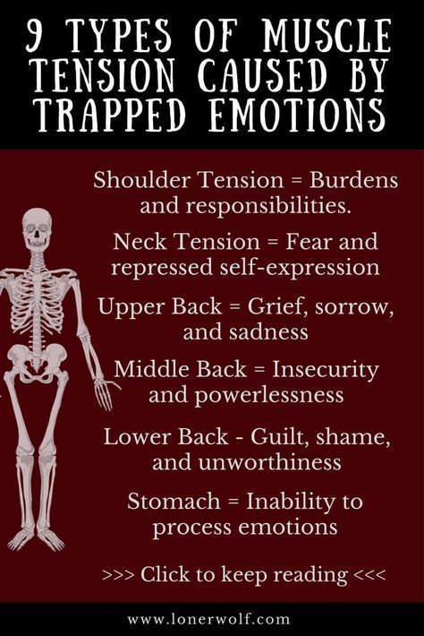 13++ Tension in neck and shoulders from anxiety inspirations