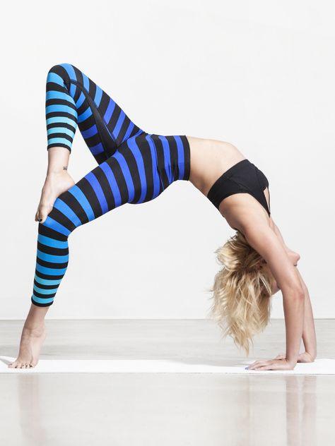 Alexis Capri Legging In Alexis Stripe Workout Attire Capri