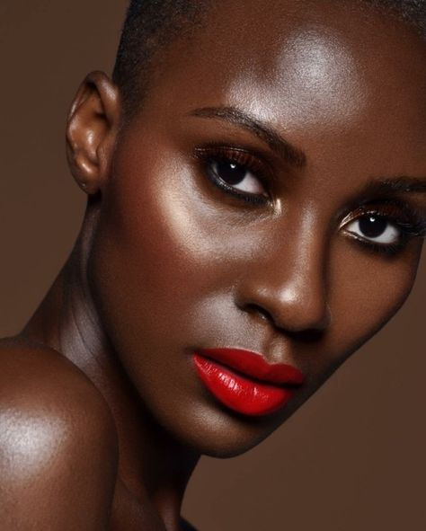 Red Lips Dark Skin Makeup Looks Red Lips