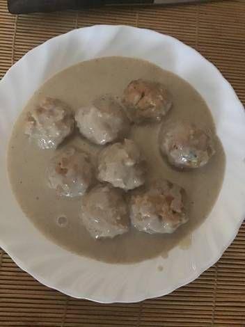 Albóndigas De Soja Texturizada En Salsa De Champiñones Thermomix