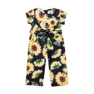 Toddler Kids Baby Girl Clothes Sunflower Ruffle Romper Jumpsuit Dress Sundress
