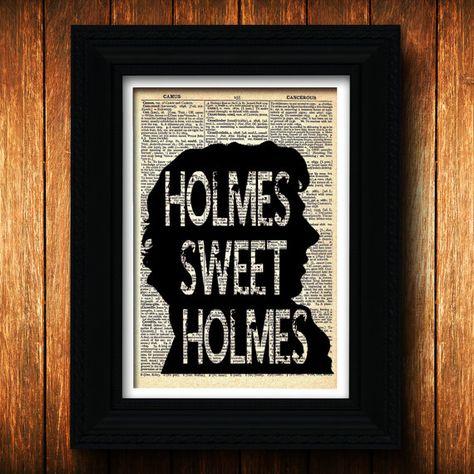 Sherlock Holmes Sweet Holmes - Dr John Watson, Sherlocked, Who, Benedict Cumberbatch, Martin Freeman, British, Sherlock Holmes, poster, gift on Etsy, $10.00