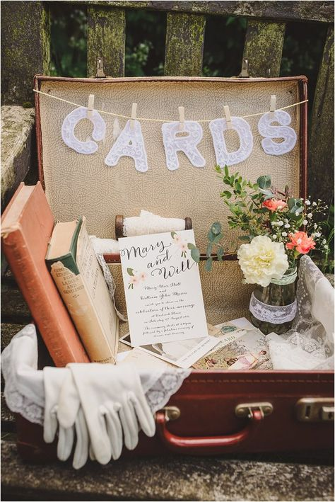 Vintage suitcase wedding card post box - Victoriana-esque Bridal & Wedding Accessories: Extra Special Touch
