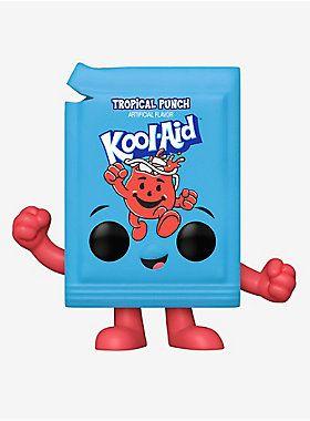Funko Kool Aid Pop Ad Icons Kool Aid Packet Tropical Punch Vinyl Figure Hot Topic Exclusive Kool Aid Tropical Punch Vinyl Figures