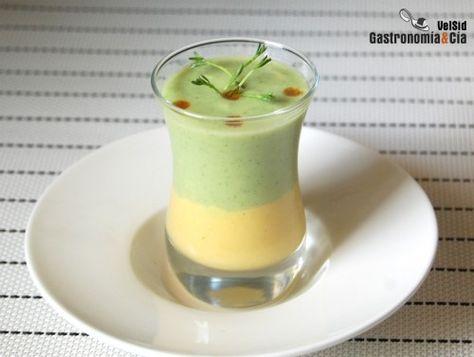 Sopa de cogombre i blat de moro dolç