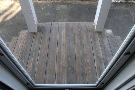 Ta Dah Look At That Red Cedar Decking Stained Burnt Hickory In Cabot Exterior Oil Based Semi Solid Stain Staining Deck Solid Stain Deck Staining Wood